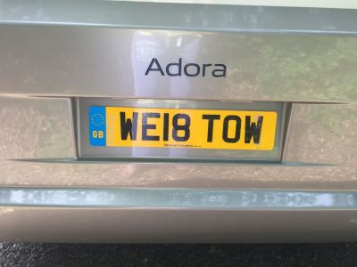 Rear car registration plate