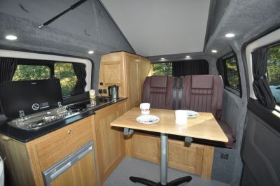Rolling Homes Kingsley Campervan Dining Kitchen