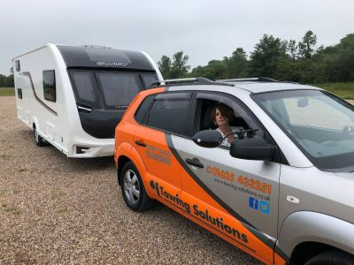 Using your mirrors when reversing with a caravan