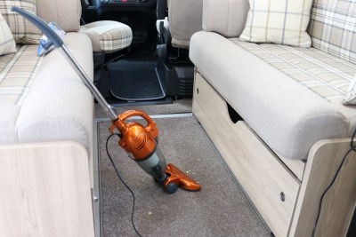VonHaus 2-in-1 stick vacuum cleaner in motorhome