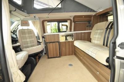 2019 VW Caravaggio campervan lounge