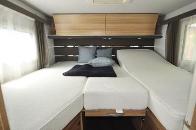 2020 Adria Sonic Axess 600 SL motorhome bed