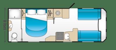 2020 Coachman Laser Xcel 875 caravan floorplan
