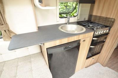 2020 Swift Sprite Super Quattro EB caravan kitchen