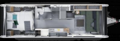 2020 Adria Astella caravan floorplan