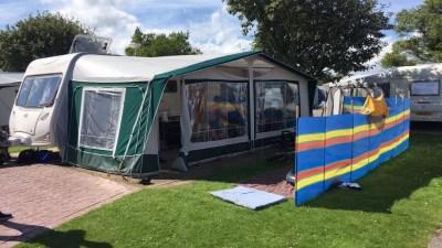 seasonal caravan pitch