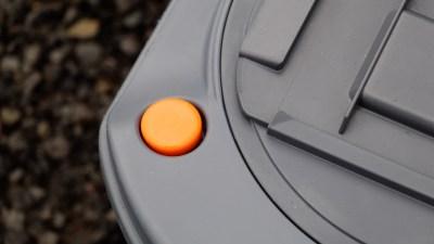 chemical toilet cassette button