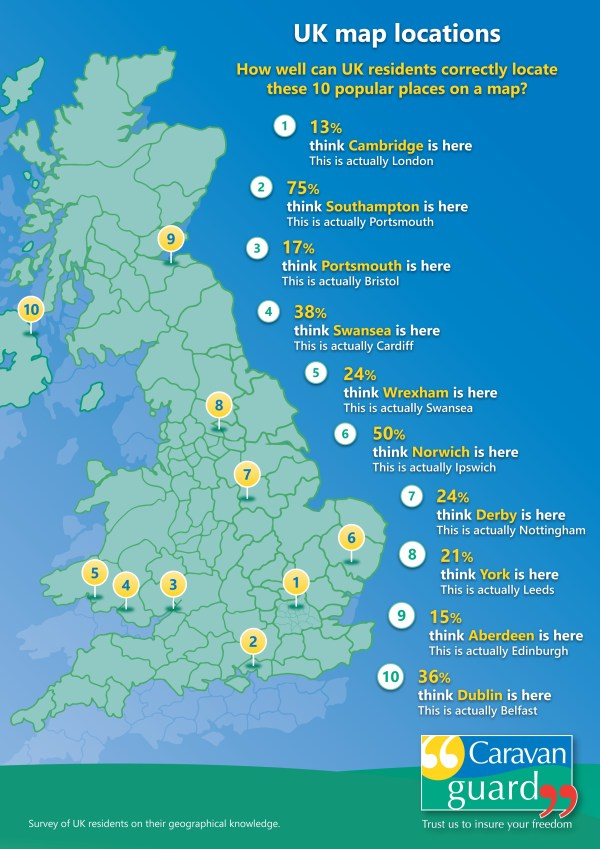 UK map locations results