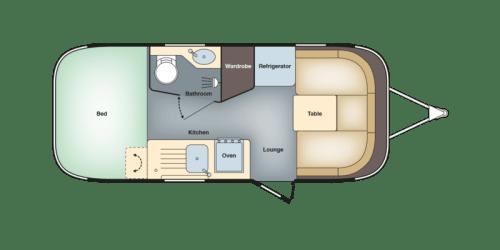 Airstream International 534 floorplan