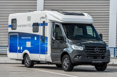 Mercedes electric motorhome base vehicle