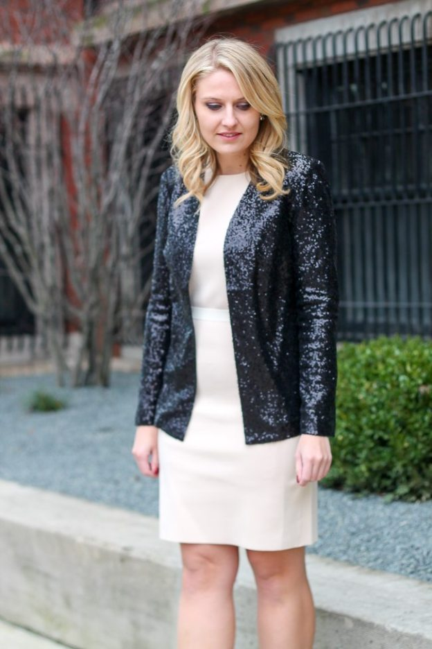 How to wear sequin jacket to the office