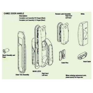 CaravansPlus | Spare Parts Diagram  Camec Lock | Locks
