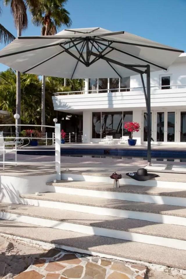 Sonnenschirm Belvedere weiß rund
