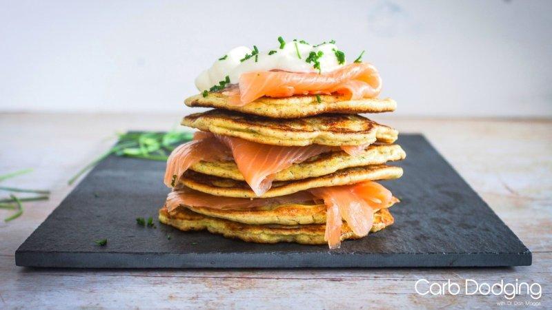 Smoked Salmon Pancake Stack