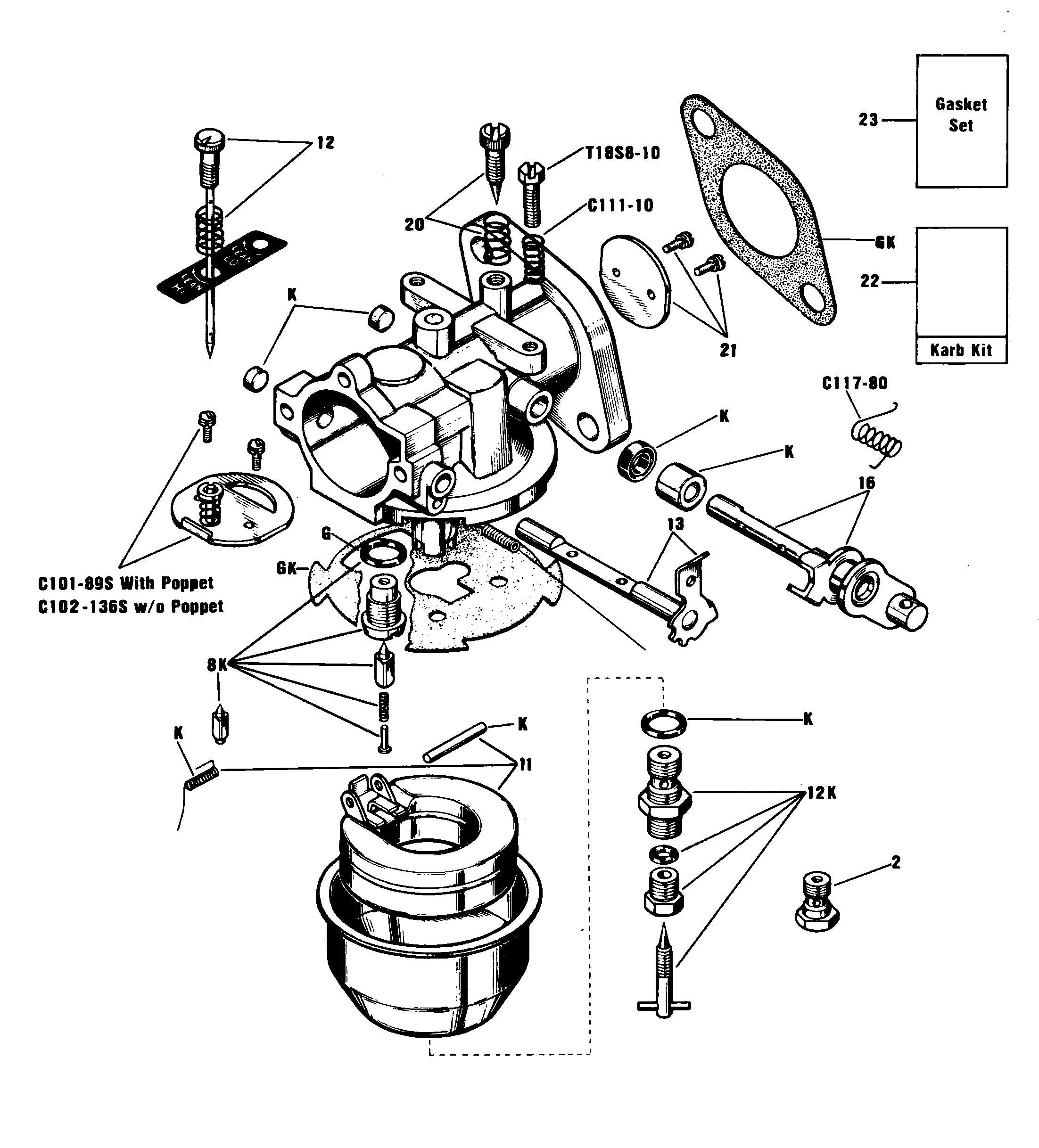 Onan Generator Carburetor Diagram