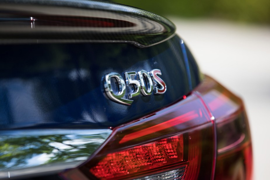 Infiniti Q50 Red Sport 400 Trunklid Badge