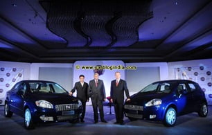 (Left to Right)- Mr Ramakrishnan, Tata Motors, VP, Commercial & Passenger cars, Mr Rajeev Kapoor, CEO & President, FIAT India and Mr Enrico Atanasio, Senior VP, Commercial Operations