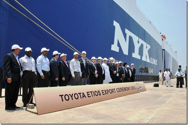 Toyota Etios Export Ceremony at Ennore Port near Chennai  4th April 2012 (3)