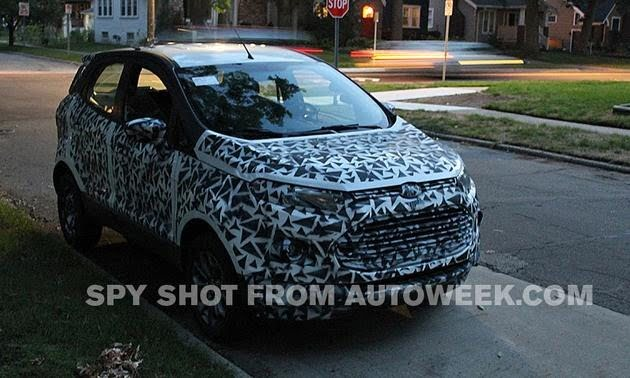 Ford EcoSport Spied In Detroit USA