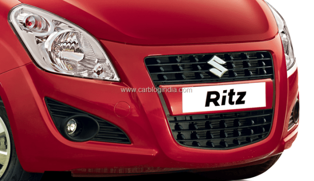2012 Maruti Ritz Diesel Front Grille and headlamps