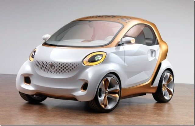Smart forvision_1 - Daimler AG and BASF SE have developed a new concept vehicle that combines both companies' ideas for holistic electric mobility. The two companies have combined their technological compe