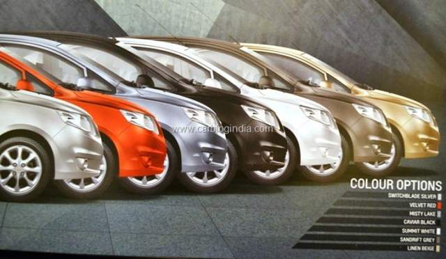 Chevrolet Sail Colour Options India