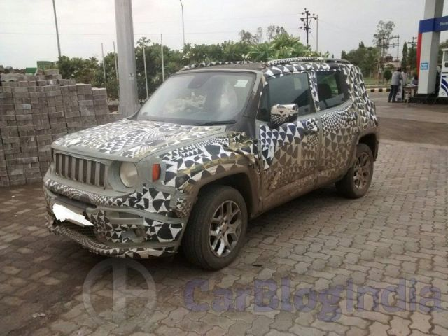 Jeep Compact SUV India Launch in 2018; Price Rs 9 lakh; Specifications jeep-renegade-india-spy-shots (3)