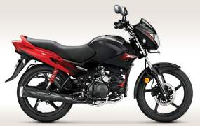 2014 Hero Glamour FI Black with Sporty Red Paint