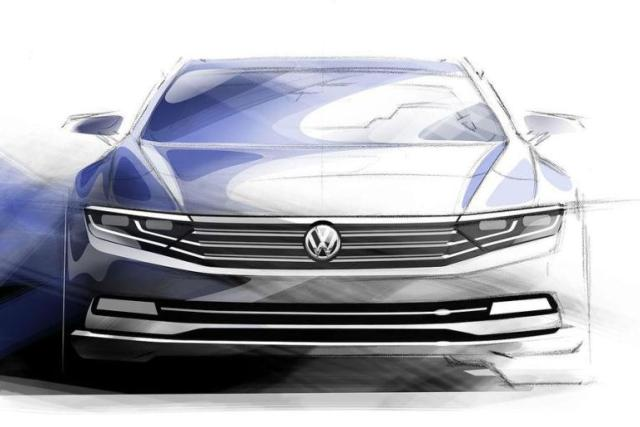 2015-VW-Passat-front-sketch