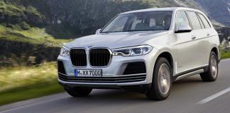 2018 bmw x7 images front angle rendering