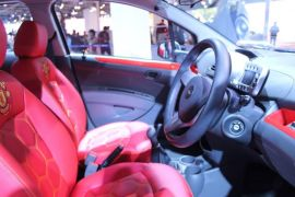 Chevrolet Beat Manchester United Special Edition Interior Front Cabin