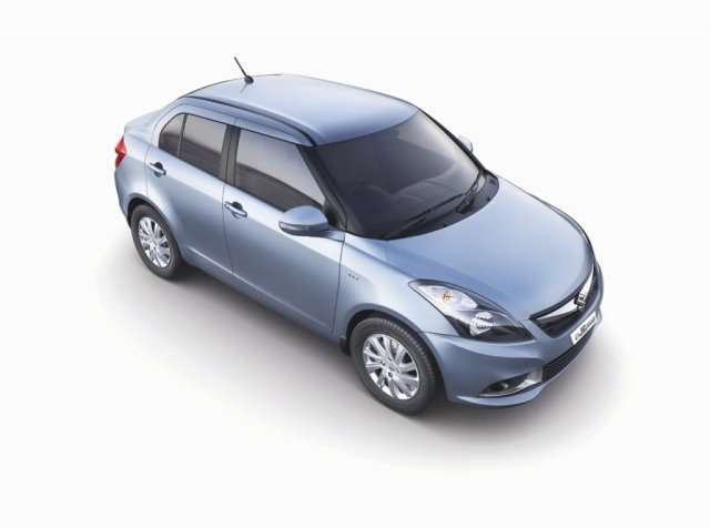Automatic Sedan Cars in India below 9 Lakhs Price, Specifications, Images 2015-Maruti-Swift-Dzire-top-front-angle-official-pics