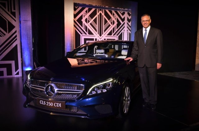 Mr. Eberhard Kern, Managing Director and CEO, Mercedes-Benz India with New CLS 250 CDI
