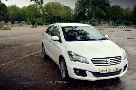 best petrol sedans in india under 11 lakhs Maruti-Ciaz-Metallic-Pearl-Arctic-White-Front-Angle-Review