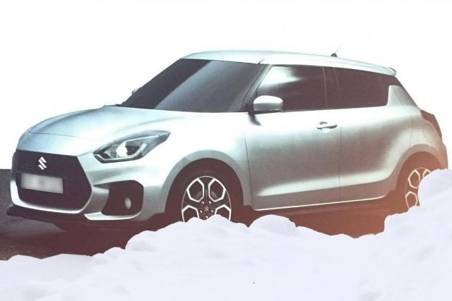 2017 Maruti Swift Sport images front three quarter