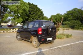 mahindra-tuv300-test-drive-review-black-rear-angle-2