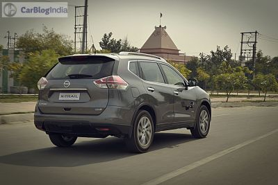 new nissan x-trail hybrid india review-photos-action-rear-angle