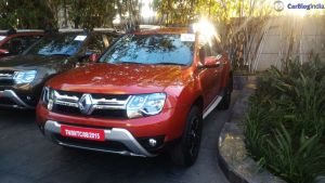 2016 renault duster facelift front angle cayenne orange