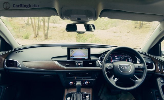 audi a6 matrix 35 tdi test drive review images interior dashboard