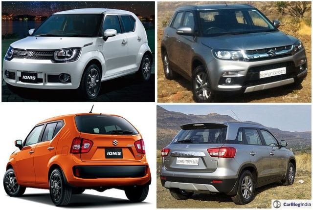 Maruti Ignis vs Vitara Brezza Comparison Price, Specifications