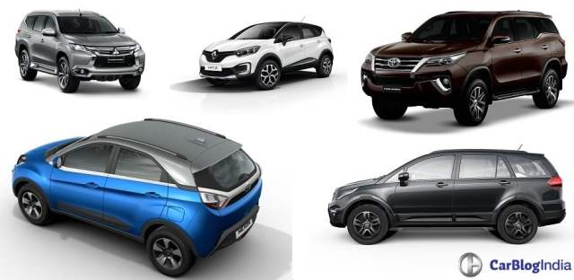 New Upcoming SUV Cars in India 2017