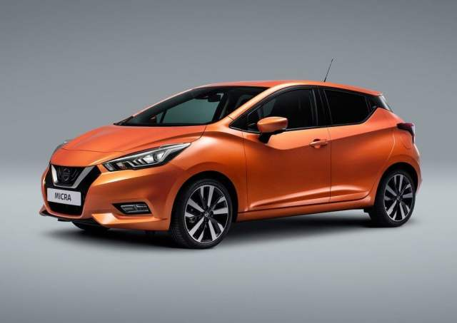 upcoming cars in india 2017 - 2017-nissan-micra-official-images-orange-front-side