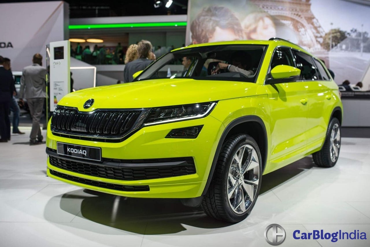 7 seater skoda suv kodiaq launch interior specifications. Black Bedroom Furniture Sets. Home Design Ideas
