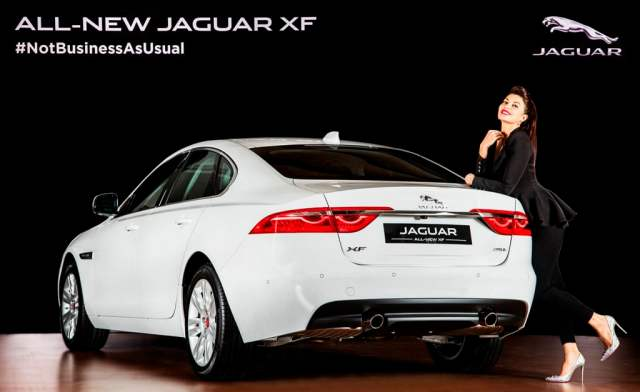 New 2016 Jaguar XF India Price - 49.50 lakh; Specificaitons, Features new-2016-jaguar-xf-india-official-images-rear-Jacqueline-fernandes