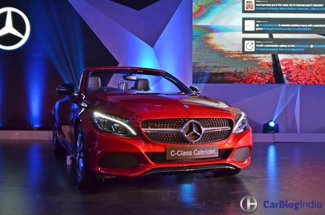 Mercedes C Class Cabriolet India Price Rs 60 lakh; Specifications, Images 2017-mercedes-benz-c-class-cabriolet-launch