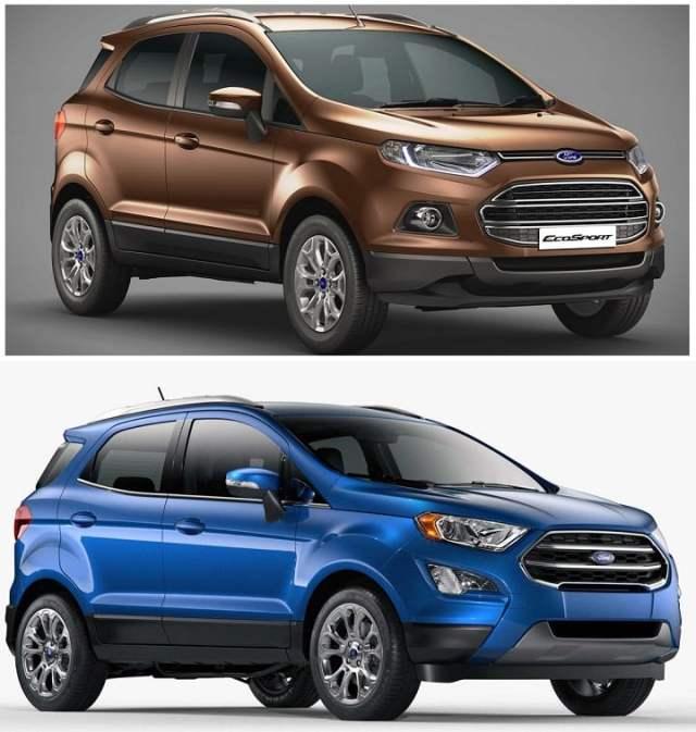 Ford EcoSport Old vs New Model Price, Specification, Feature Comparison ford-ecosport-old-vs-new-front