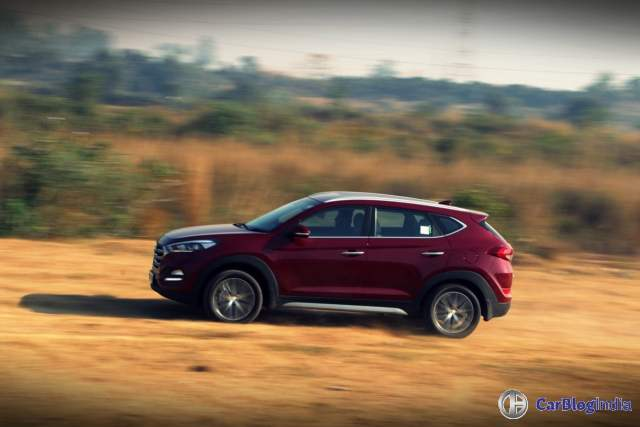 new hyundai tucson test drive review images action shot