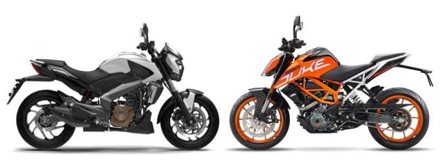 Bajaj Dominar 400 vs KTM 390 Duke comparison