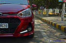 2017 hyundai grand i10 facelift test drive review LED DRLS