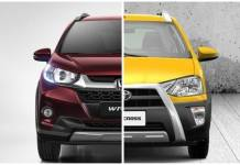 honda brv vs toyota etios cross comparison images